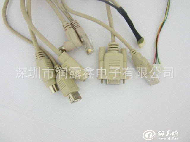 8排针 端子线 镀锡铜2芯4芯6芯8芯线材 贝吉色连接线