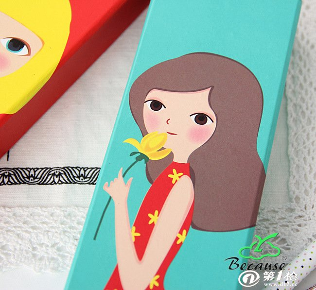 厂家直销 文具盒 可爱铅笔盒 清新 梦想女孩卡通文具纸盒可以定制
