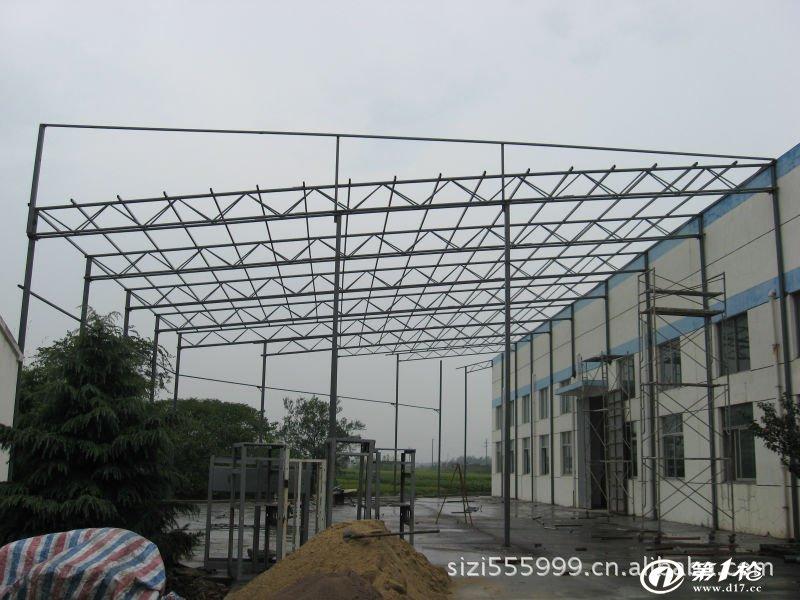 钢结构 隔墙 吊顶           彩钢瓦 活动房 钢结构 隔墙 吊顶   大梁图片