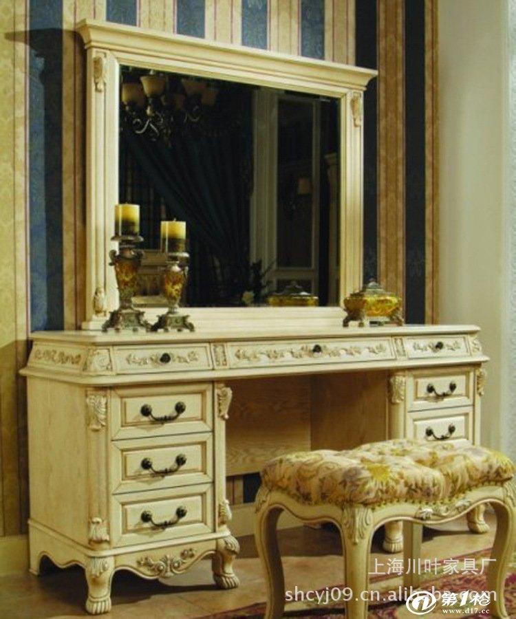 宝贝名称:欧式实木床头柜 品牌:欧娜百合 产地:上海 颜色:象牙白做旧