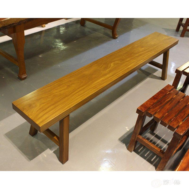 长凳 实木长凳 实木家具 原木长条凳 大板 配套凳子 长凳板凳