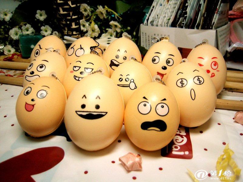 全新 可爱表情鸡蛋仔 多种款式 手机链 包包挂饰 超柔软 可捏回弹